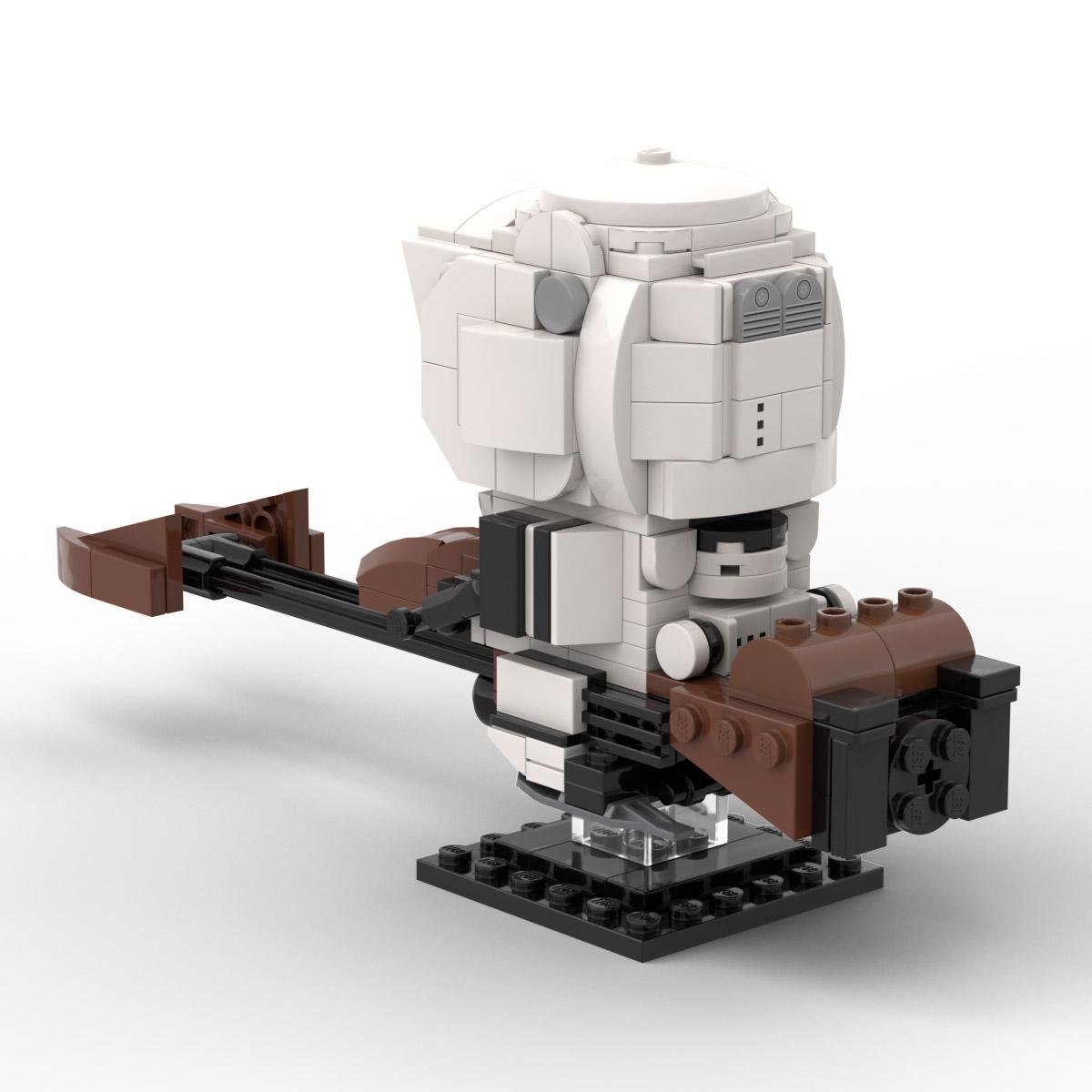 Custom Lego Star Wars Scout Trooper Brickheadz