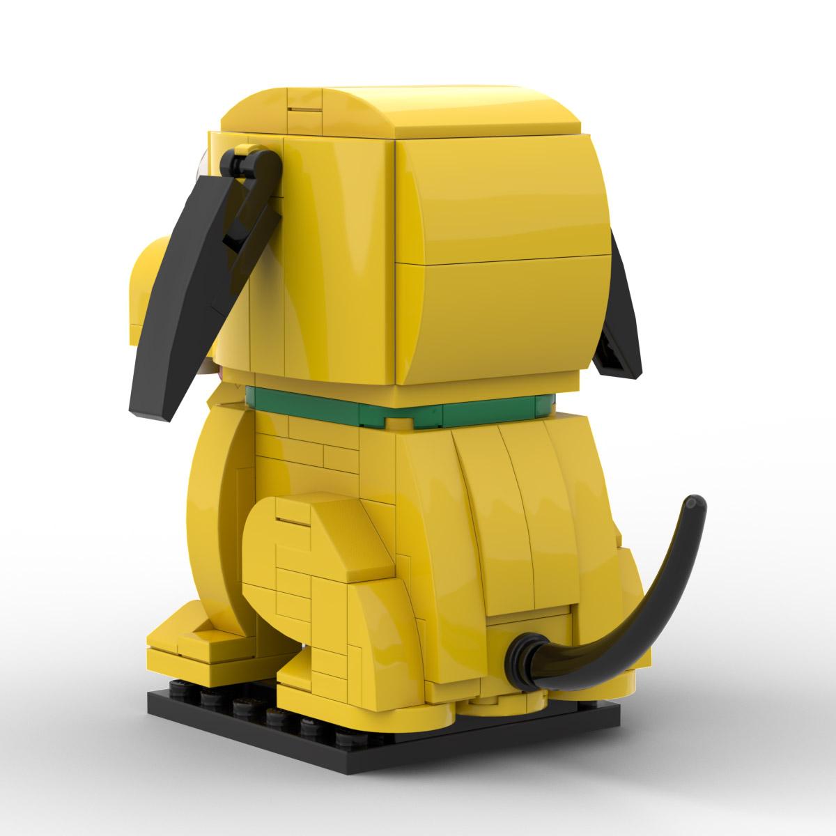 Disney Pluto Custom MOC Lego Brickheadz Instructions