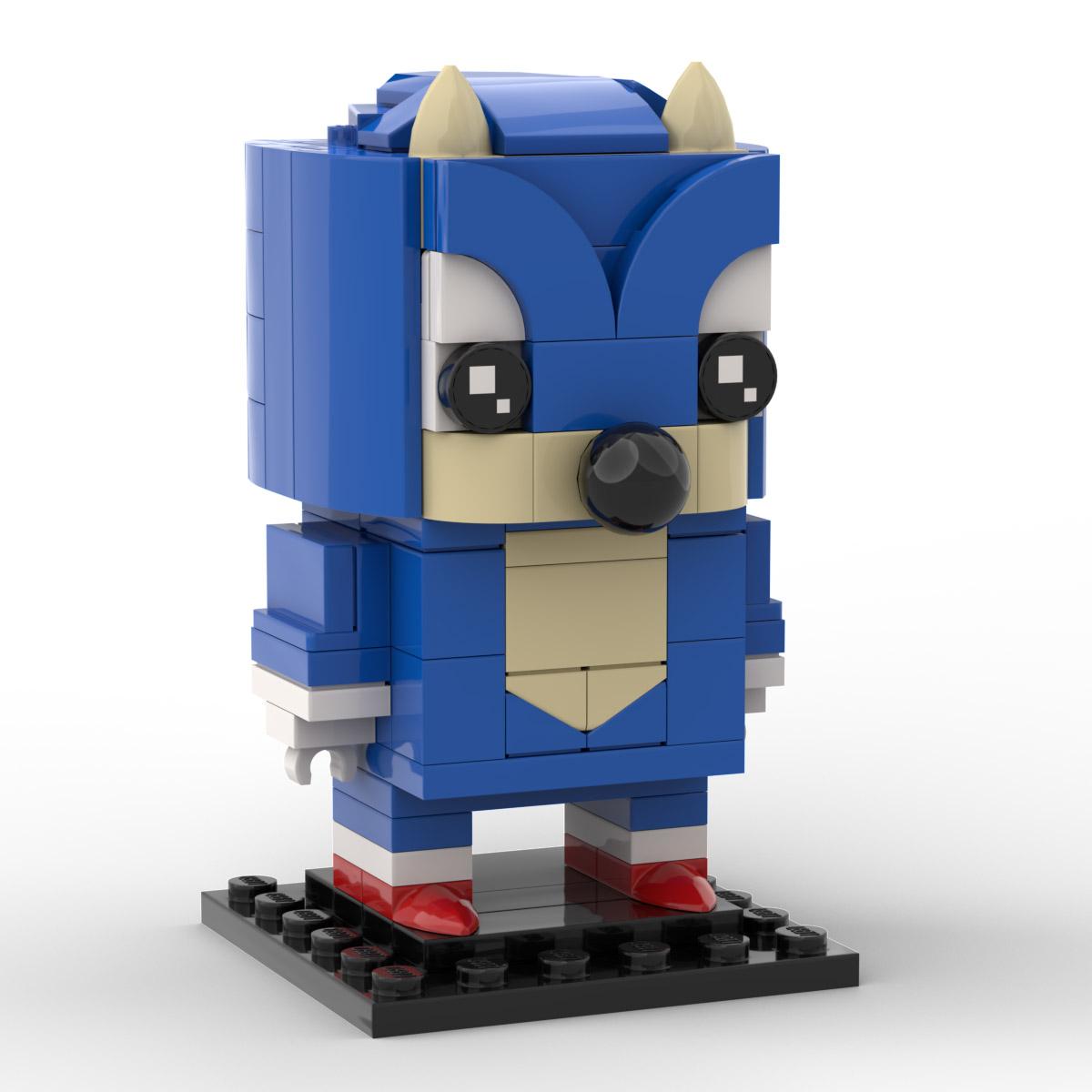 Custom Lego Sonic The Hedgehog Moc Brickheadz Instructions