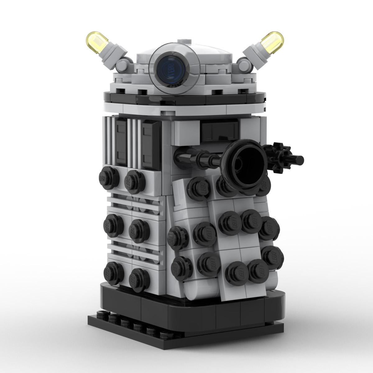 Doctor Who Dalek Custom Lego Moc Brickheadz Instructions